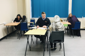 Lendlease and MorganSindall giving learners mock interviews on our Focus Week course.